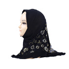 Fashion soft light weight Muslim girls scarf instant kids hijab