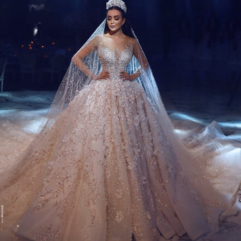 Wedding Dresses with Lace and Bling