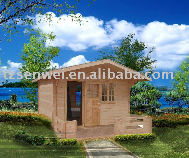 Holiday house, Small cheap log cabin prefabricated wooden house for sale