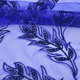 Blue water soluble maple leaf embroidery printing flower fabric lace leaf embroidered lace fabric