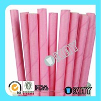 2015 New Style All Pink Paper Straws Holiday Party Products