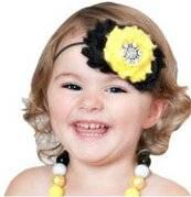 Smile Lovely Baby Girls Headbands Rhinestone Flower Headbands For Girls Infant Hair Band for kids HB315