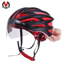SAVA Unisex Ultralight 57 - 62CM Lightweight Bicycle Bike Safety Helmet with Removable Goggles 22 Hoels Breathable