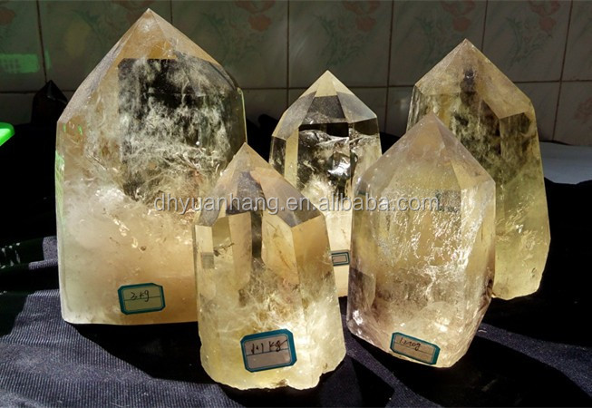 Wholesale Natural large citrine rock crystal <strong>point</strong>