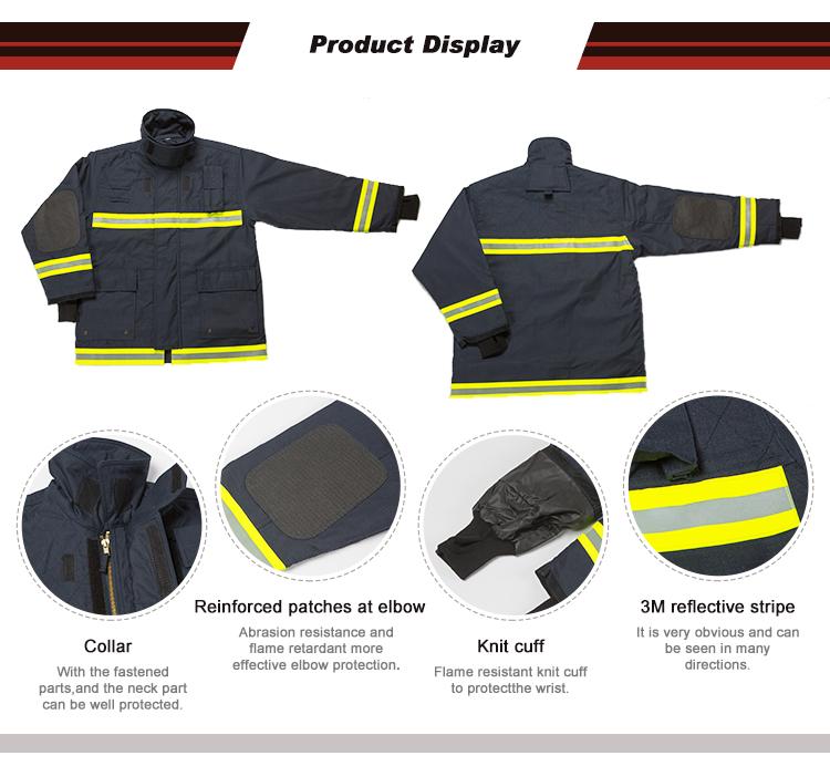 Vêtements ignifuge pour aramide, garde-feu de pompier avec flammes