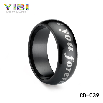 I love you wedding ring, for eternal ceramic luxe jewelry