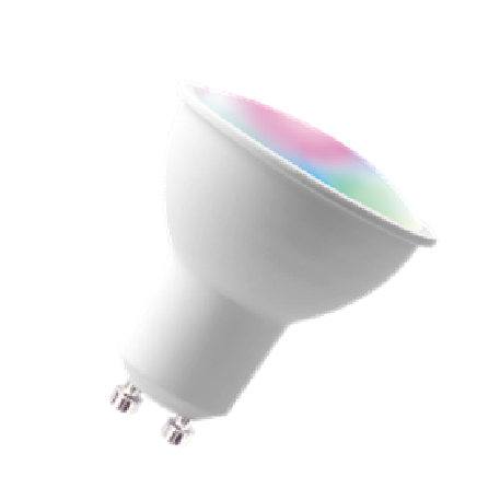 GU10 WIFI  led bulb-compatible cellphone app and smart speaker voice control 5w smart  rgb spotlight