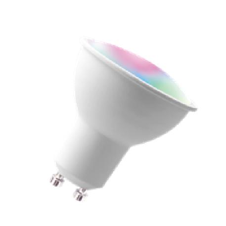 GU10 WIFI  led bulb-compatible cellphone app and smart speaker voice control 5w smart  rgb spotlight