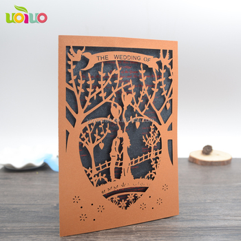 Bride And Groom Wedding Invitations Lovely Laser Cut Tree Wedding