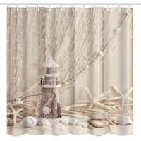 new products Nautical Seashell Decor Marine Ocean Beach Theme Wooden Lighthouse