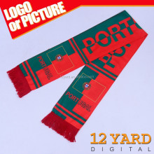 Custom printed Wholesale gift Knitted Jacquard Football Team soccer fan scarf