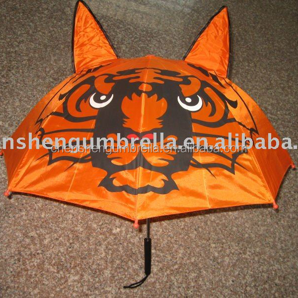 fancy tiger butterfly frog dog panda kids animal umbrella with ears