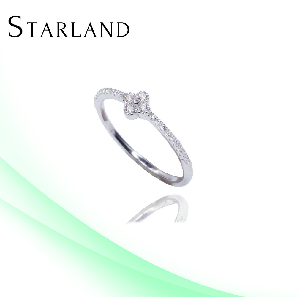 Starland sun king Micro Pave Setting Silver Ring Jewelry