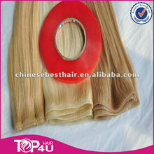 Wholesale hight quality 100% virgin remy European hair pu skin weft