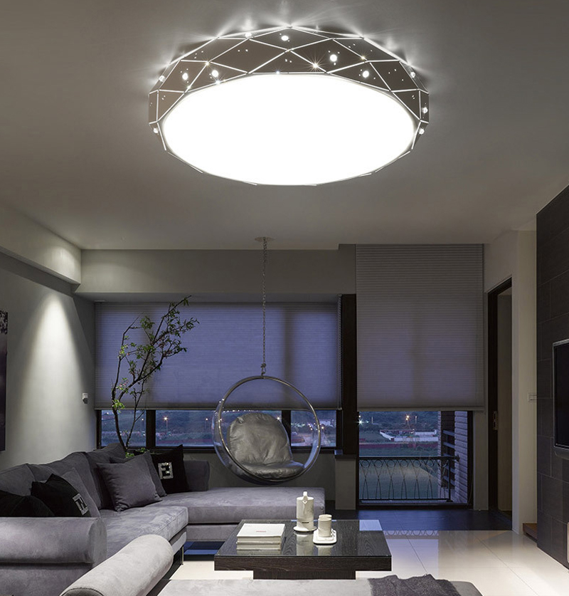 36w Bluetooth ceiling led lighting lamps modern bedroom living room lamp surface mounted AC 110V/220V ceiling 48*48*10cm