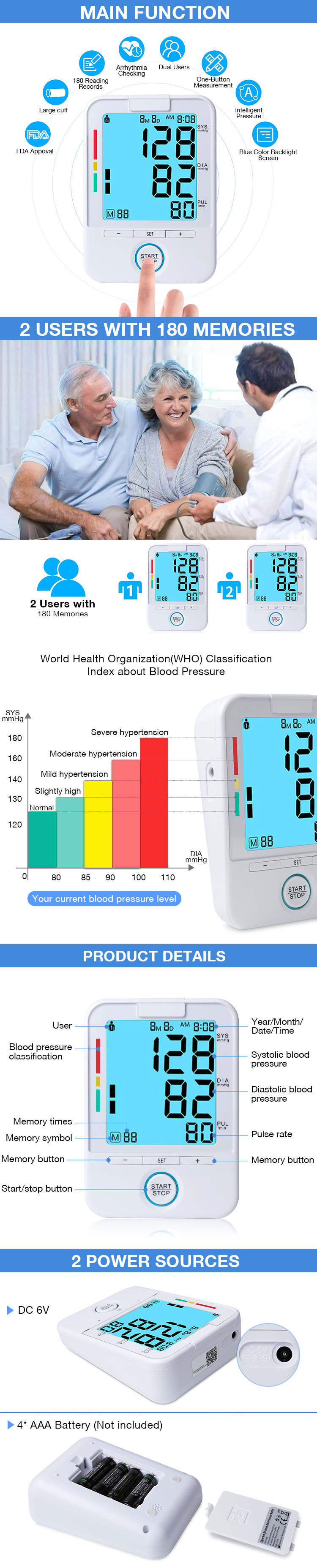 XY01 BP Machine Price Ambulatory Automatic Manual Wrist Watch Digital Blood Pressure Monitor Sale