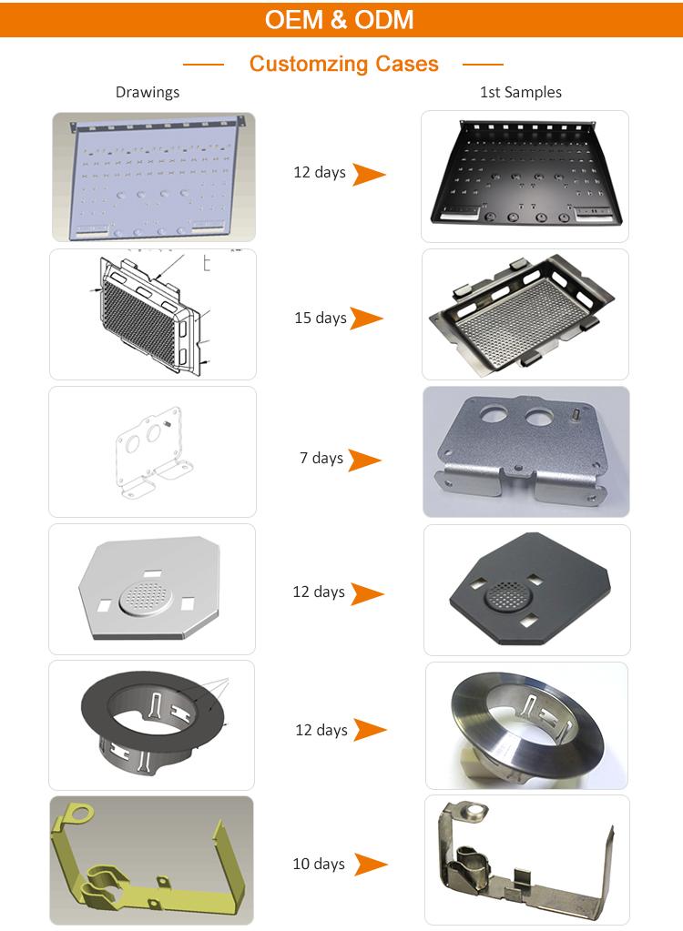 لوح صلب مجلفن المعادن أجزاء النموذج الأولي ختم تصنيع تلفيق الخدمة