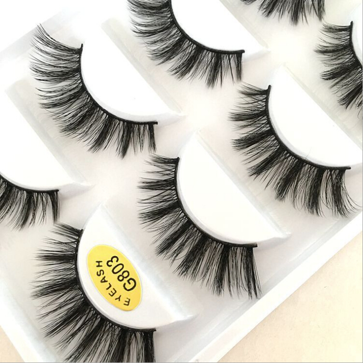 OUMO-Factory direct supply of hand-woven 3D eyelashes Handmade Natural Thick Multilayer fiber Hair False Eye G800