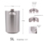 Passivated single wall homebrewing stainless steel 5L mini beer keg with CO2 tapping system