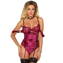 XMKM-020 Infinile Verlockung Spitze Dessous Sexy Fett Hang EIN Hals Backless Frau Bodysuit Overall