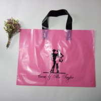 Clothing T Shirt Jean Carry Custom Printed Plastic Customer Logo Retail Shopping Bag With Handle