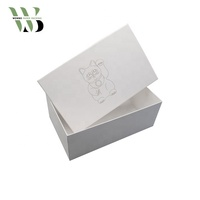 High quality pure white man shoes box with logo fot foil