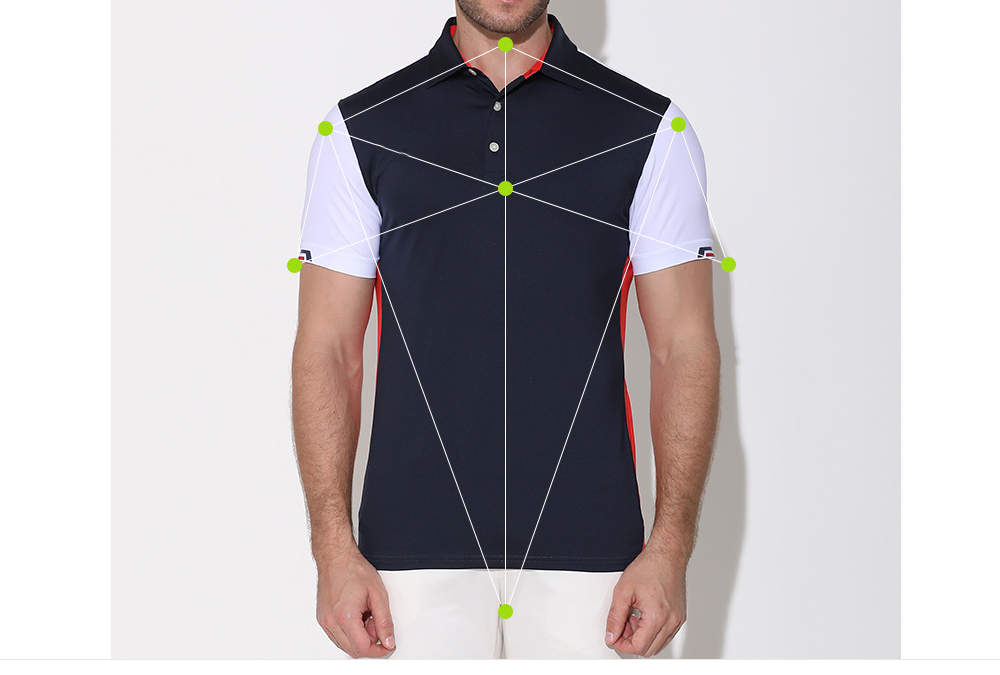 Summer mens sport polo shirt slim fit quick dry color spliced polo shirt personalized customization and service