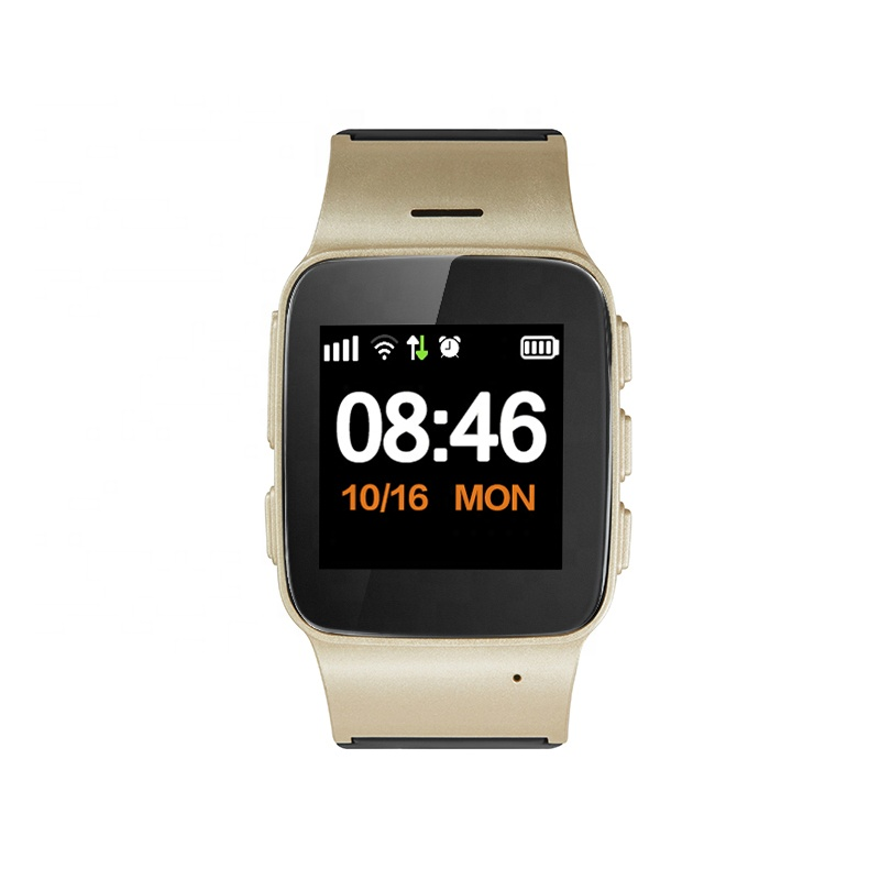 Fall Detection Smartwatch GPS Tracker GPS+LBS+WiFi Positioning SOS Panic Button Smartwatch