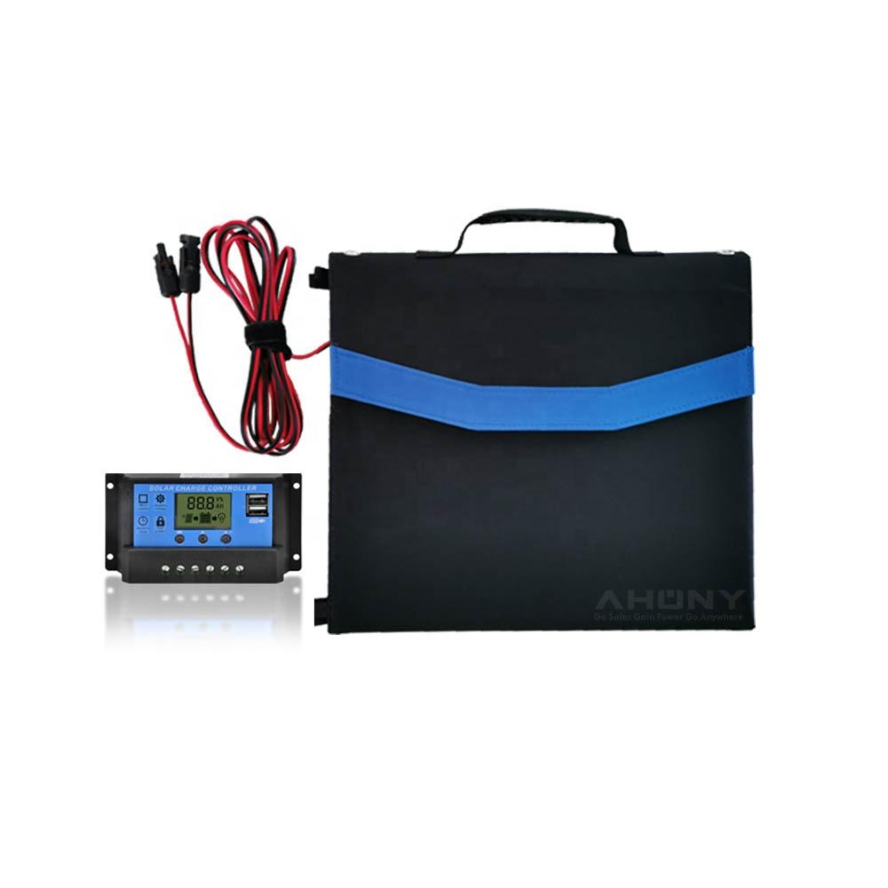 고품질 160w foldable 태양 충전 가방 담요 휴대용 학년 모노 셀 충전 태양열 발전기 리튬 배터리
