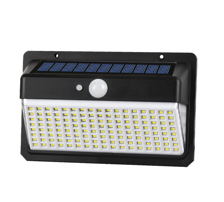 outdoor 158 led solar security light with motion sensor/solar garden light sensor