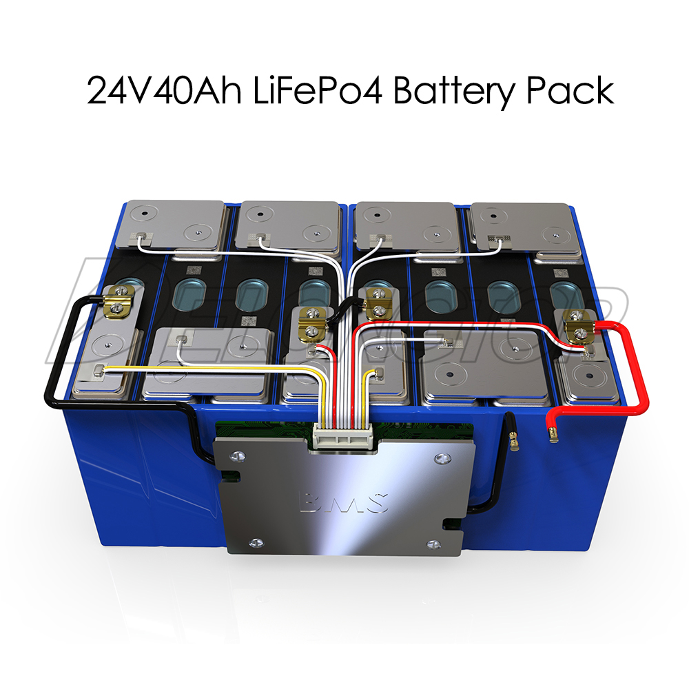 Deep Cycle Solar Storage 24V 40Ah LiFePO4 Lithium Battery Pack For Solar System