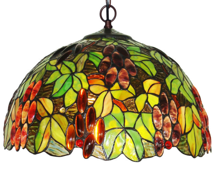 Custom Traditional Handmade Stained Glass Tifany Lamps Tiffany Ceiling Light home Decoration Stained Glass Chandelier