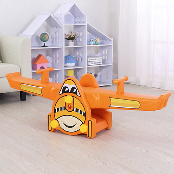 Kindergarten kids ride on toy toddlers game play animal design playground aircraft seesaw indoor kids seesaw