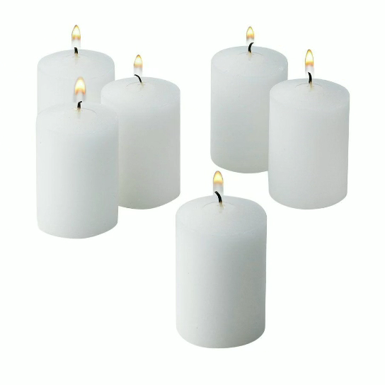 China factory specializing in the production of complete white pillar candles