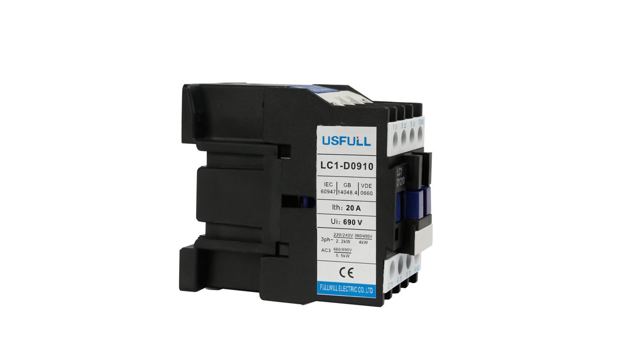 USFULL ac contator 40A 50A 65A contator de poder 4 3 pólo pólo 24 48 volts volts 380 volts