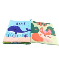Wholesale kids toy washable colorful soft fabric cloth book with crinkle for children
