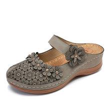 MCCKLE/женские летние сандалии; повседневная обувь на танкетке в стиле ретро; женские шлепанцы на платформе с пряжкой; мягкая женская обувь(Китай)