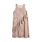 Casual khaki floral sleeveless ladies women's long dresses