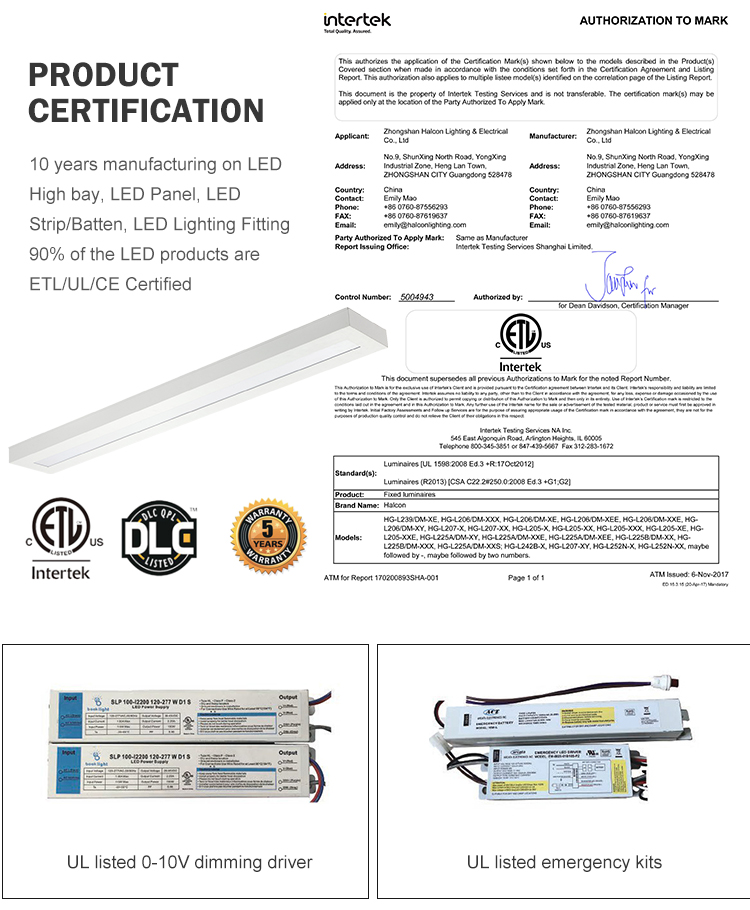 Wholesale 40w 50w industrial linear led lighting fixturetube batten light