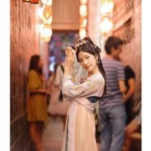 2020 11 цветов, винтажное женское платье Hanfu с квадратным воротником, костюм Тан, набор сказочных девушек, старинное Элегантное свадебное плать...(Китай)