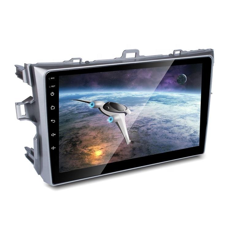 """Atacado 9 """"Double Din Carro GPS Auto Radio Stereo Player Multimídia Android com Câmera de Visão Traseira Para Toyota Corolla 2007-2013"""