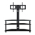 New arrival tempered glass modern living room sofa glass TV stand furniture tv table
