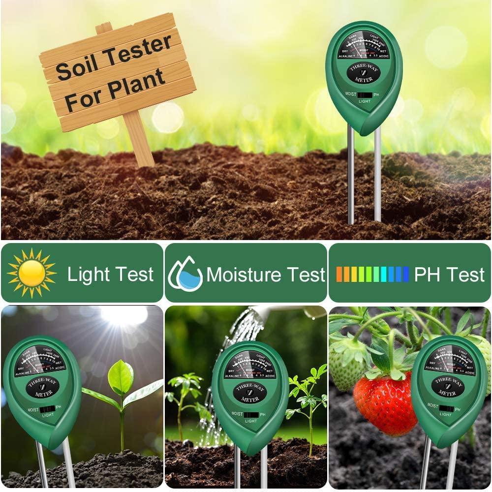 3 In 1 gardening plant flowerpot tester soil moisture meter/PH Meter/illuminance meter