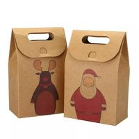 Custom Made Promotional Cheap High Quality Folding Brown Kraft Paper Bags