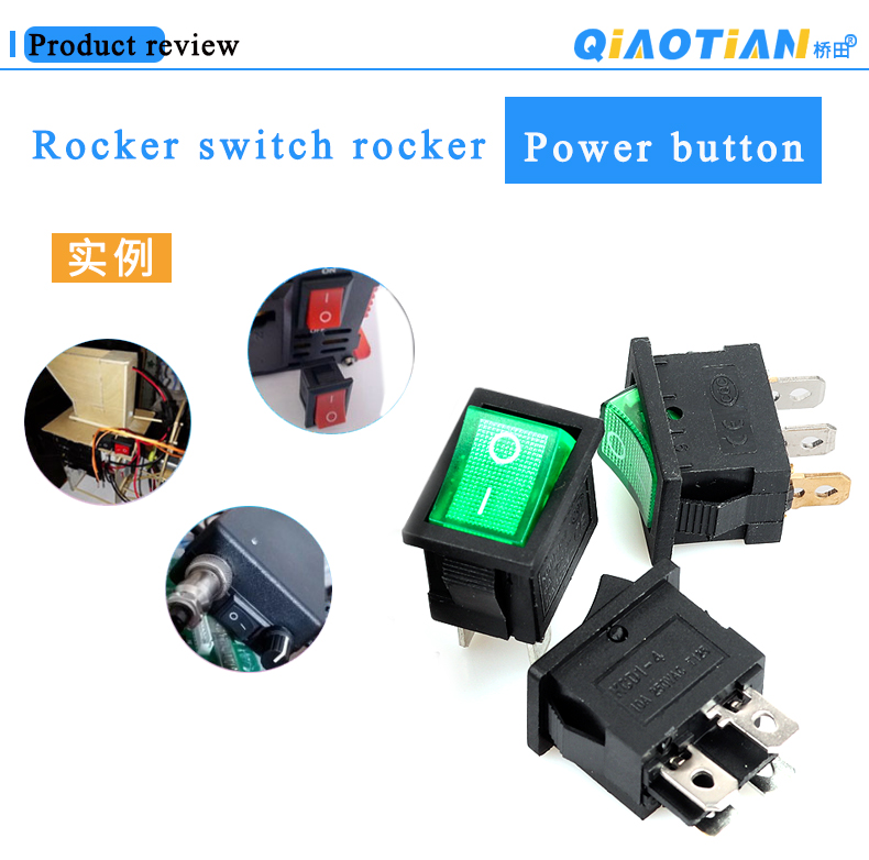 1PCS ASW-14D 12V 20A Led Illuminate Flick Rocker Button Toggle Switch ON-OFF Car Van Dash Boat Light Connections Ground Power