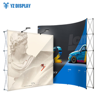 Aluminum Frame Banner Trade Show Folding Booth Outdoor Backlit Collapsible Backdrop Display Stand