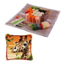 Набор для изготовления подушек и крючков с забавной защелкой, чехол с изображением цветов и животных, домашнее украшение DIY(Китай)