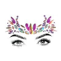 Face jewels sticker make up adhesive temporary tattoo body festival sticker