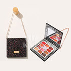 Custom magnetic empty make up palette wholesale eyeshadow pallet packaging with mirror