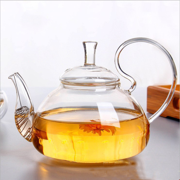 High borosilicate glass teapot accept customized heat resistant clear glass tea pot
